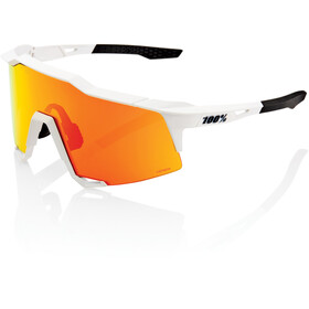 100% Speedcraft Lunettes Grand, off white hiper red/HD multilayer/hiper